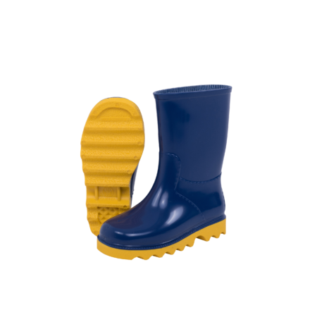 Neptun Clipper Kiddies Blue Yellow Gumboot