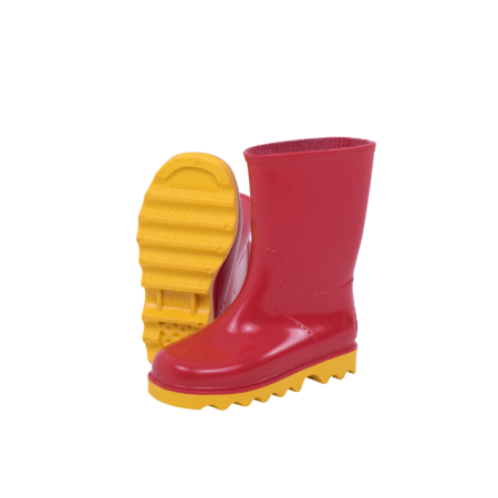 Neptun Clipper Kiddies Red Yellow Gumboot