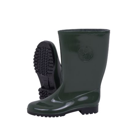 Neptun Marina Ladies Green Black Calf Gumboot