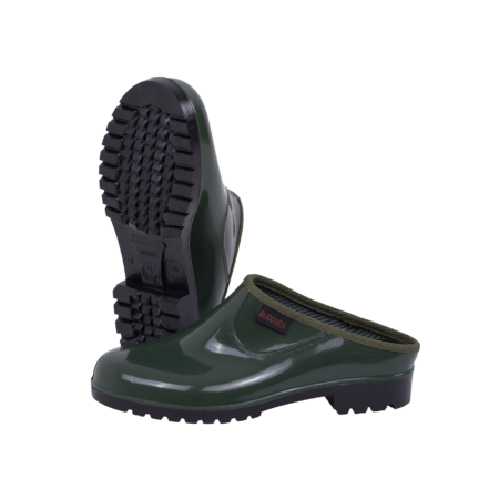 Neptun Marina Ladies Green Black Clog