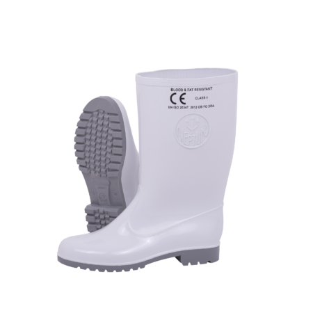 Neptun Marina Ladies White Grey Calf Gumboot