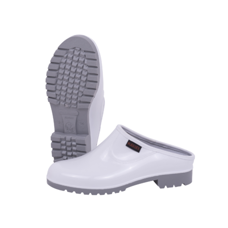Neptun Marina Ladies White Grey Clog