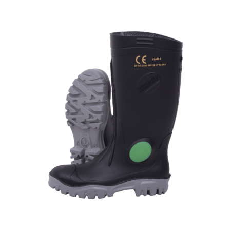 Neptun Shosholoza Black Grey Gumboot