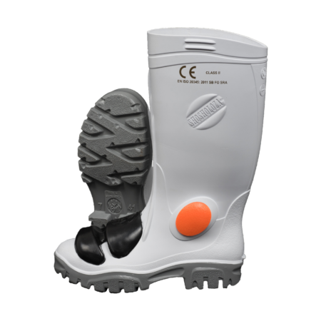 Neptun Shosholoza White Grey Gumboot