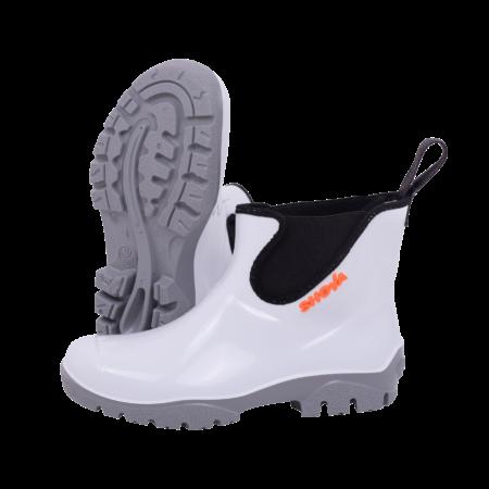 Shova Gumboot white grey Chelsea boot